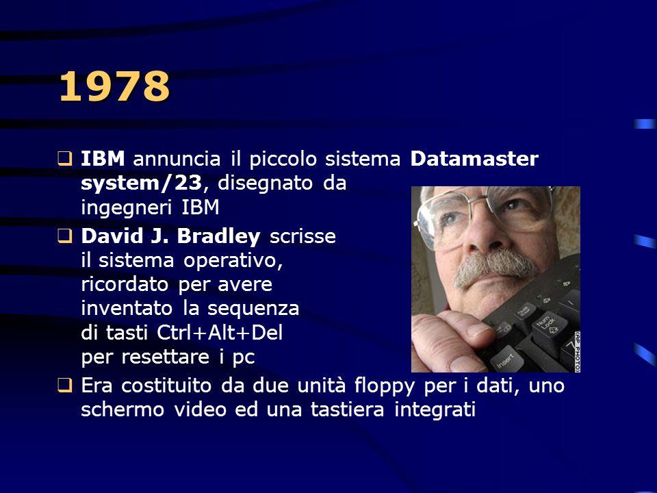 1978 IBM annuncia il piccolo sistema Datamaster system/23, disegnato da ingegneri IBM.