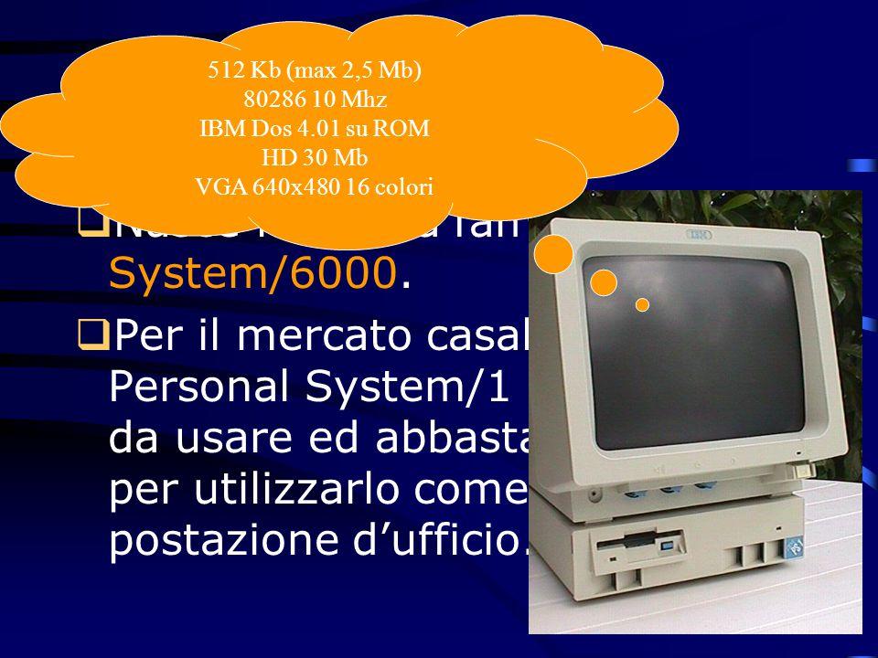 1990 Nasce la nuova famiglia RISC System/6000.