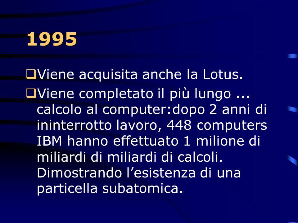 1995 Viene acquisita anche la Lotus.