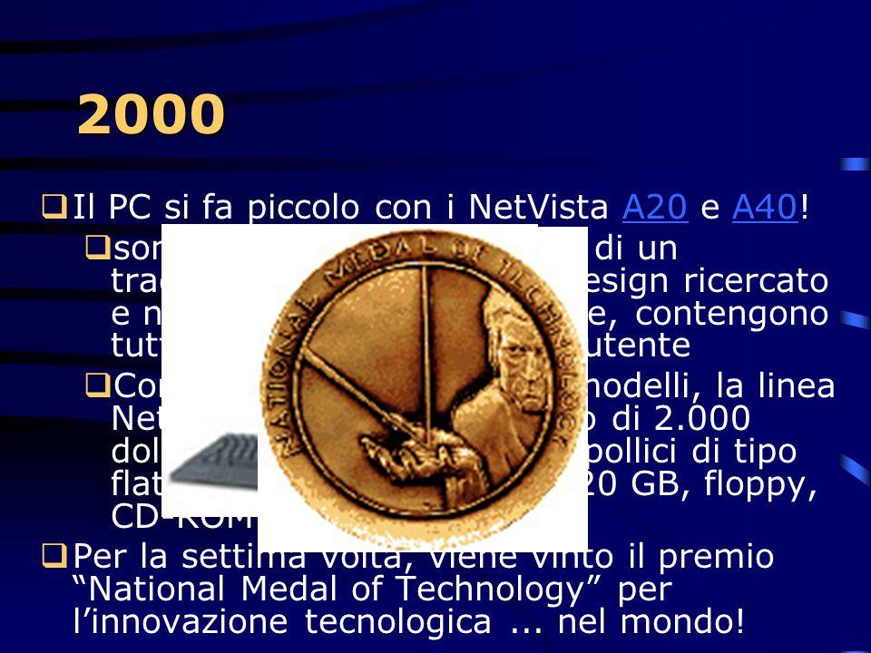 2000 Il PC si fa piccolo con i NetVista A20 e A40!