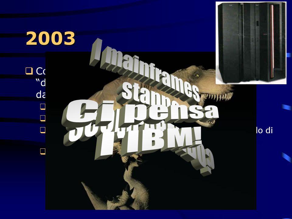 2003 I mainframes stanno Ci pensa SCOMPARENDO l IBM!