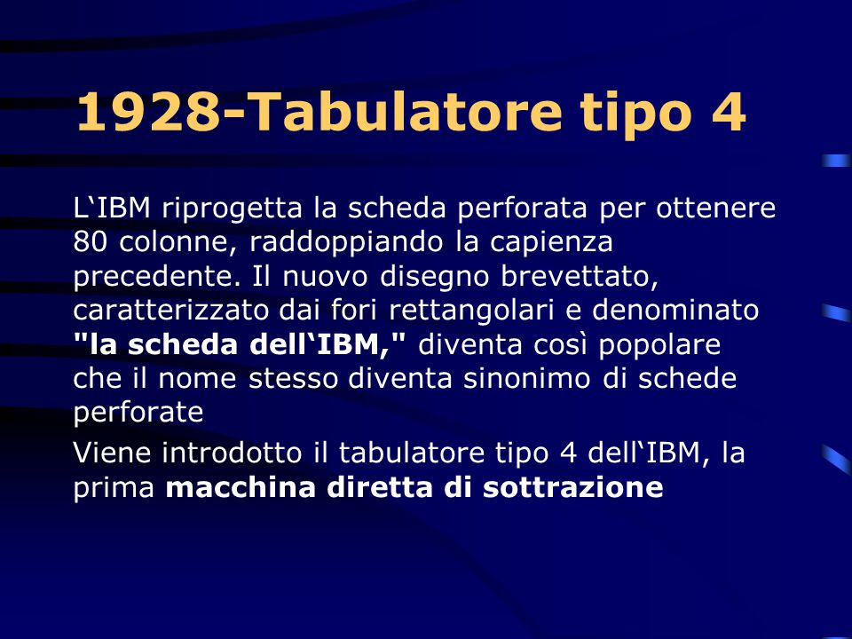1928-Tabulatore tipo 4