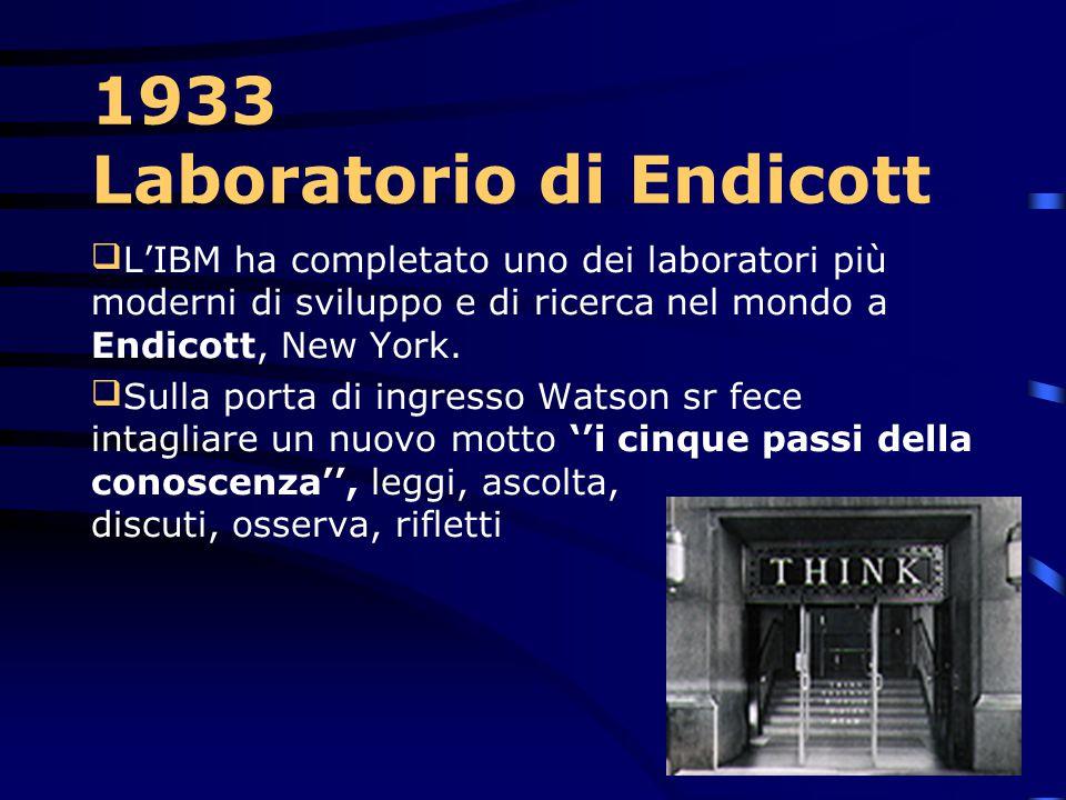 1933 Laboratorio di Endicott