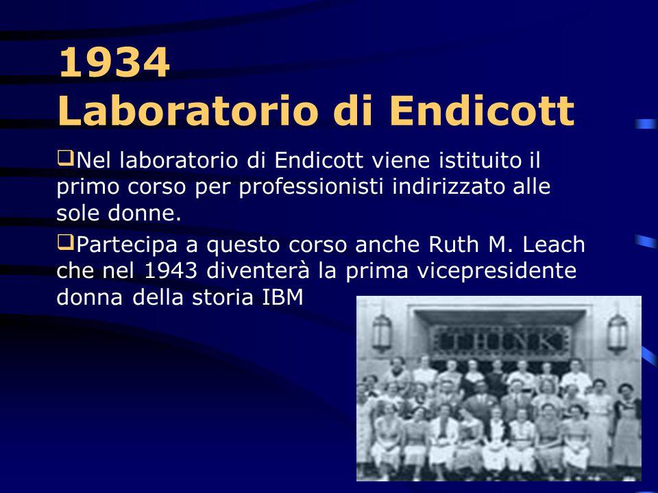 1934 Laboratorio di Endicott