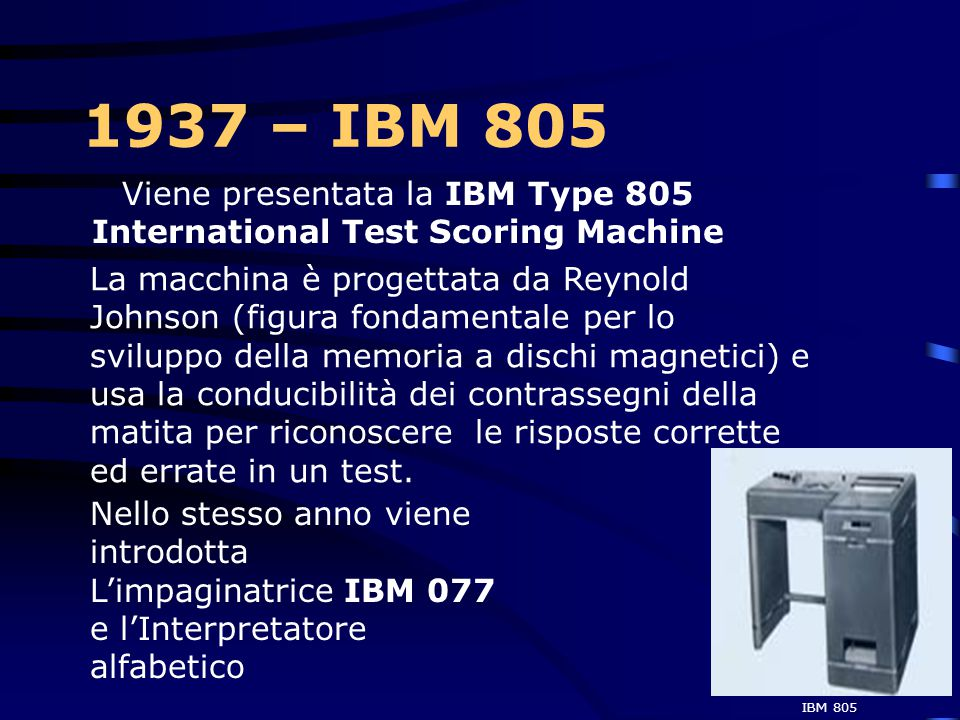 Viene presentata la IBM Type 805 International Test Scoring Machine