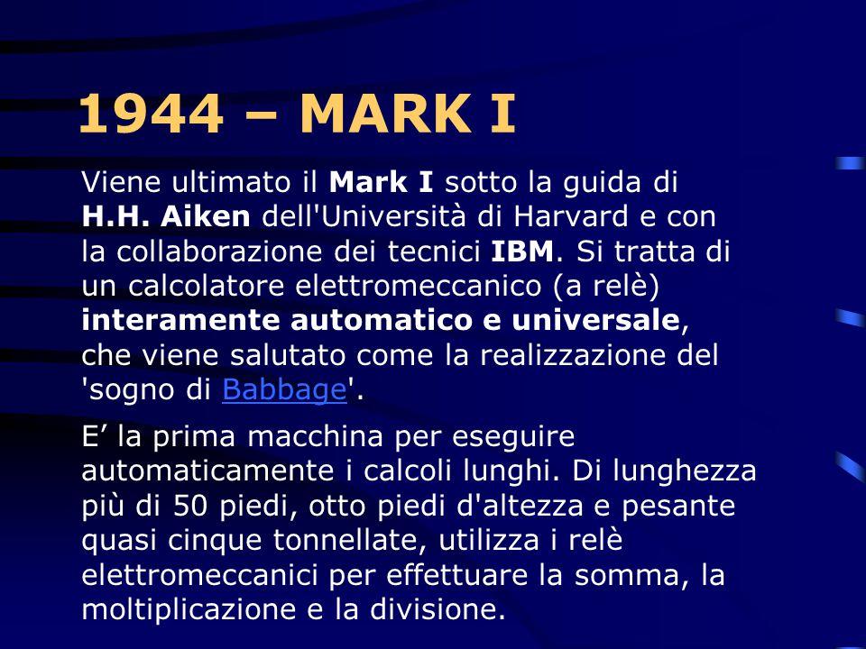 1944 – MARK I