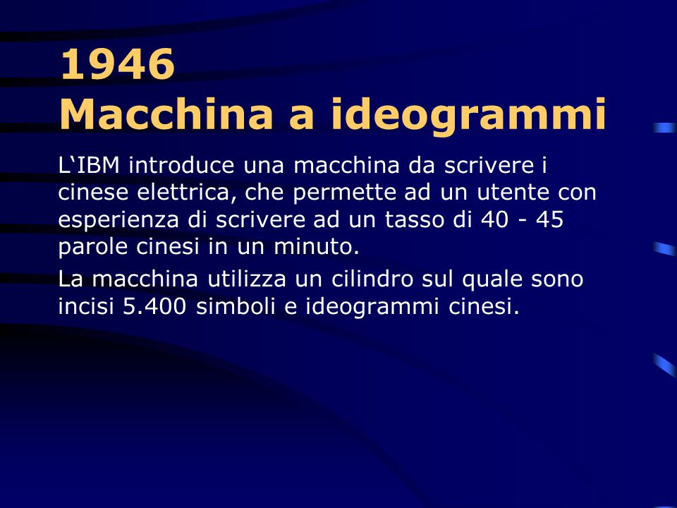 1946 Macchina a ideogrammi