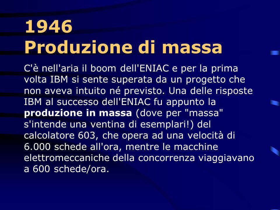 1946 Produzione di massa