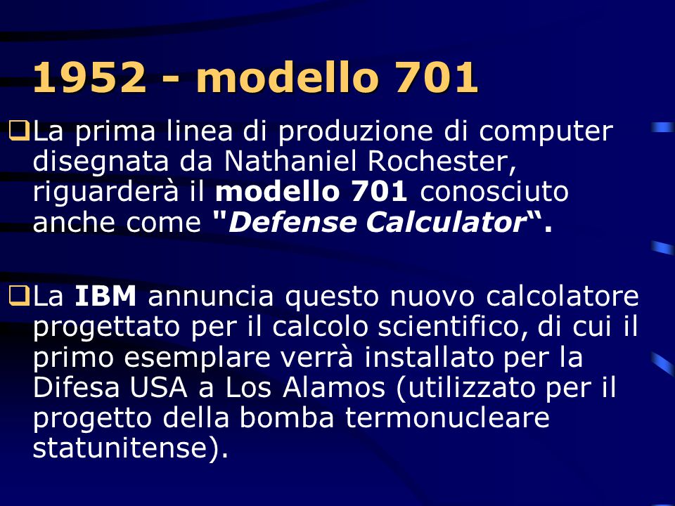 1952 - modello 701