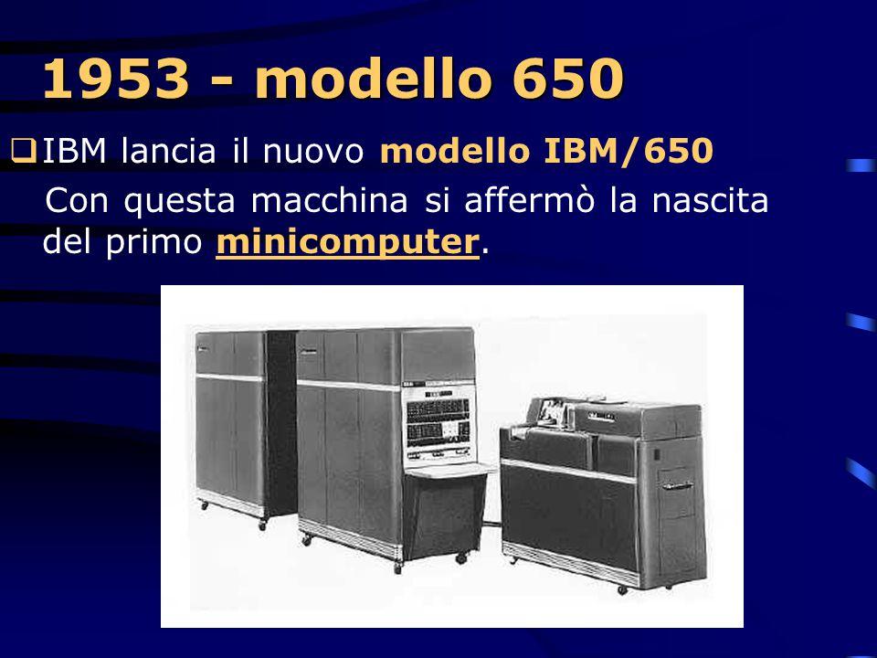 1953 - modello 650 IBM lancia il nuovo modello IBM/650