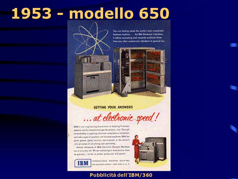 1953 - modello 650 Pubblicità dell'IBM/360