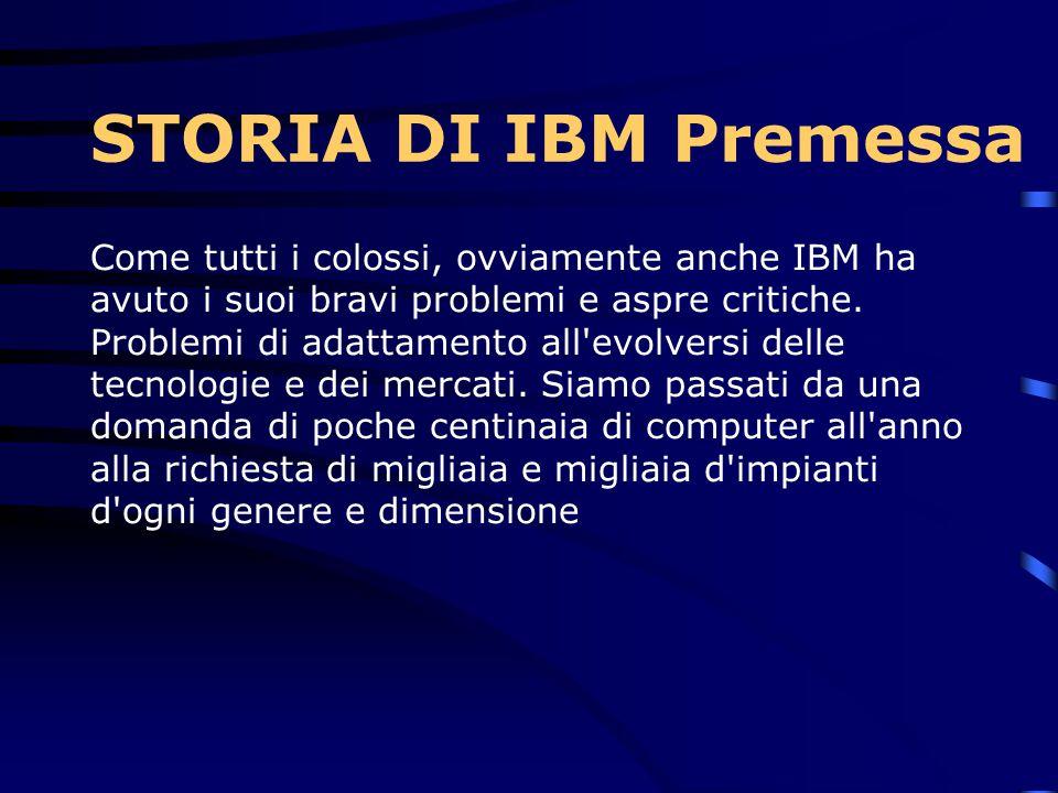 STORIA DI IBM Premessa