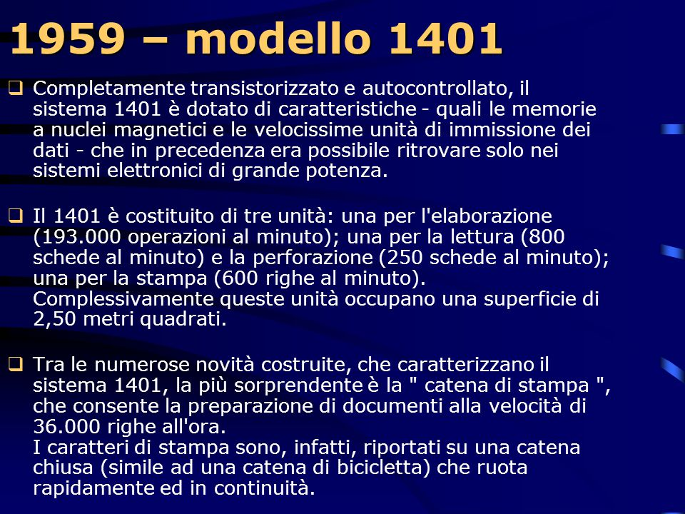 1959 – modello 1401