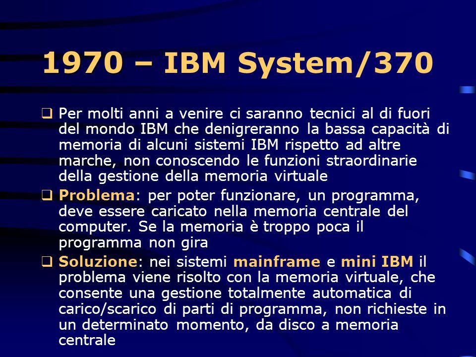 1970 – IBM System/370