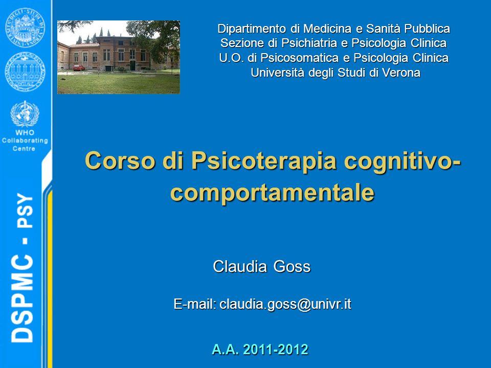Corso di Psicoterapia cognitivo-comportamentale