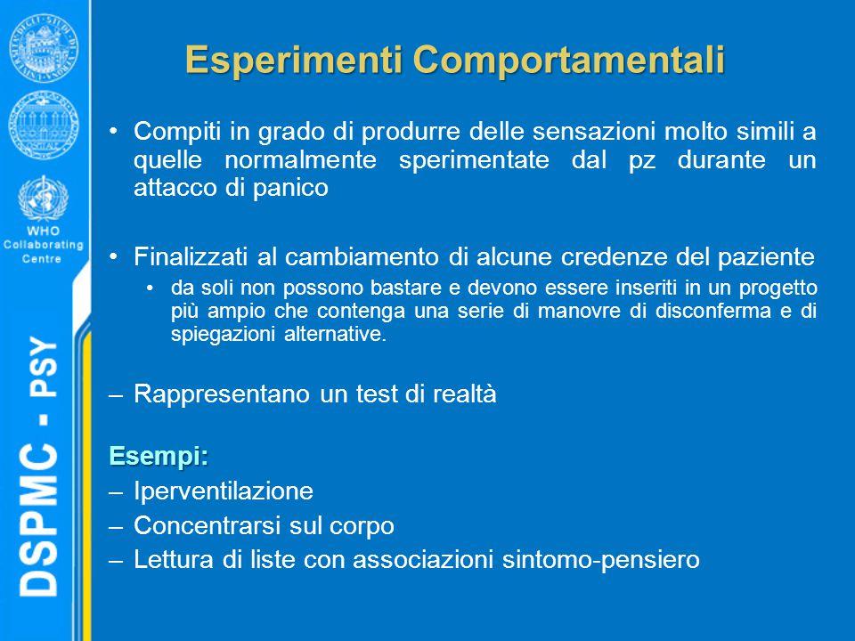Esperimenti Comportamentali