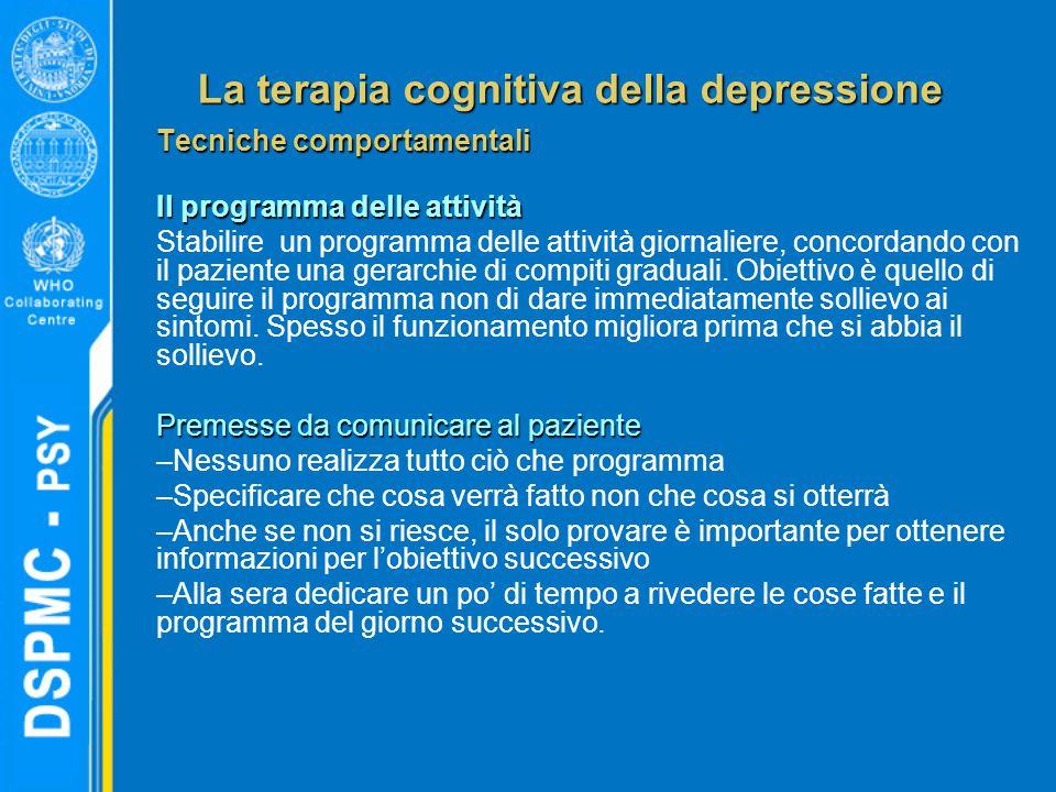 La terapia cognitiva della depressione