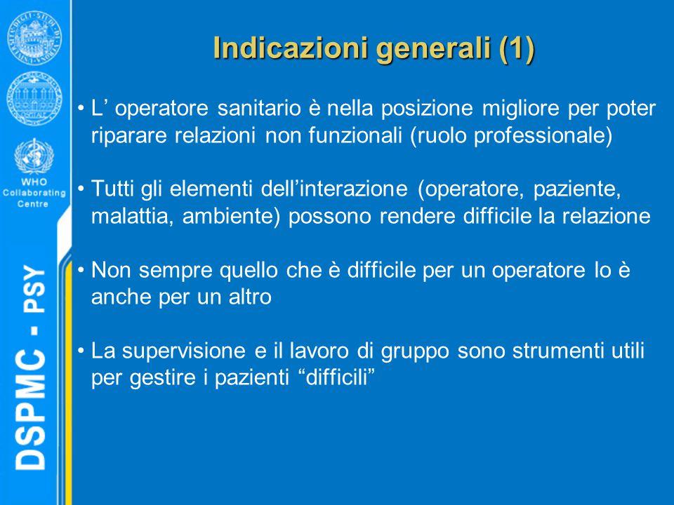 Indicazioni generali (1)