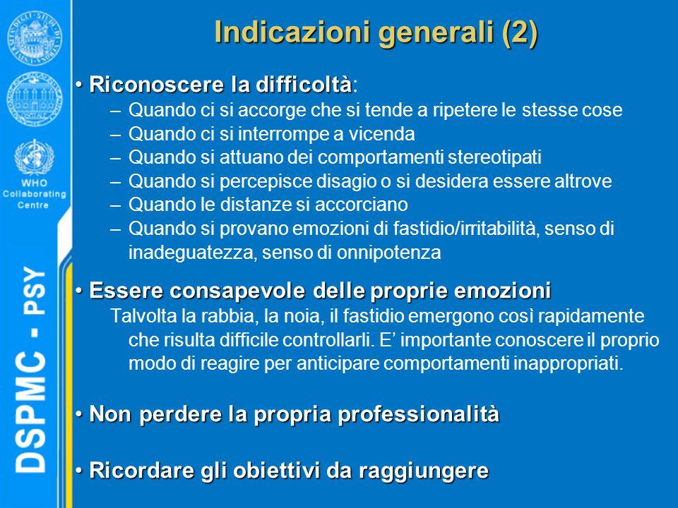 Indicazioni generali (2)