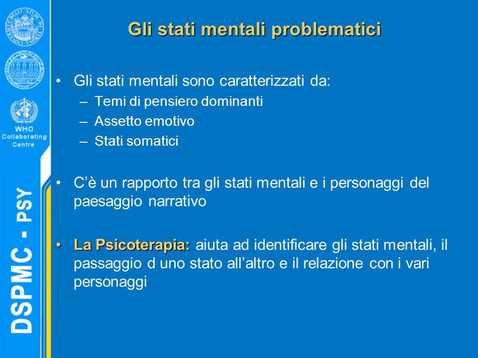 Gli stati mentali problematici