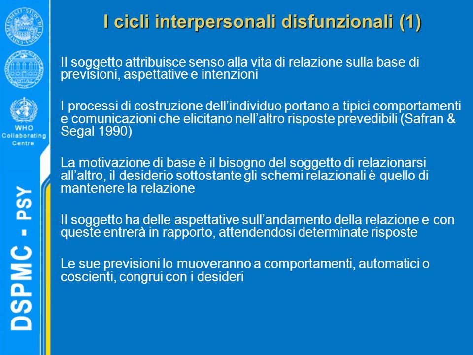 I cicli interpersonali disfunzionali (1)