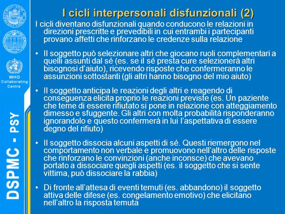 I cicli interpersonali disfunzionali (2)