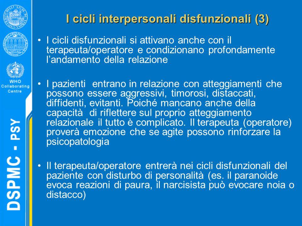 I cicli interpersonali disfunzionali (3)
