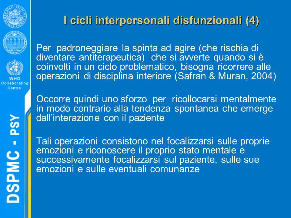I cicli interpersonali disfunzionali (4)