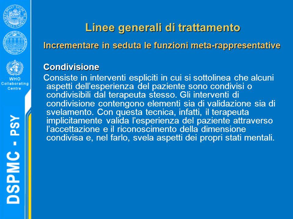 Linee generali di trattamento