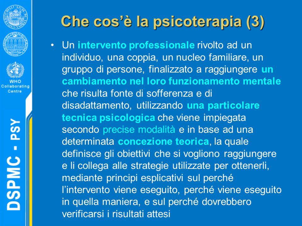Che cos'è la psicoterapia (3)