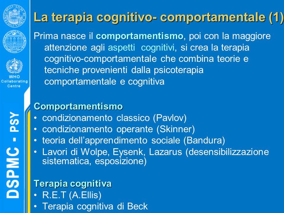 La terapia cognitivo- comportamentale (1)