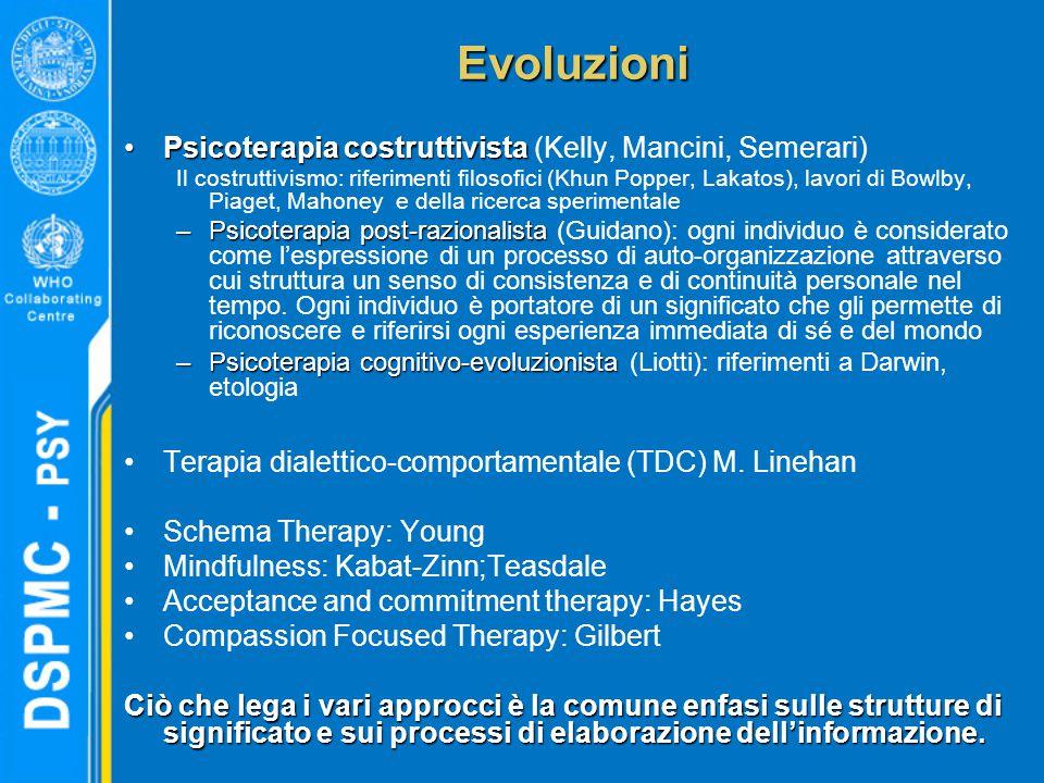 Evoluzioni Psicoterapia costruttivista (Kelly, Mancini, Semerari)