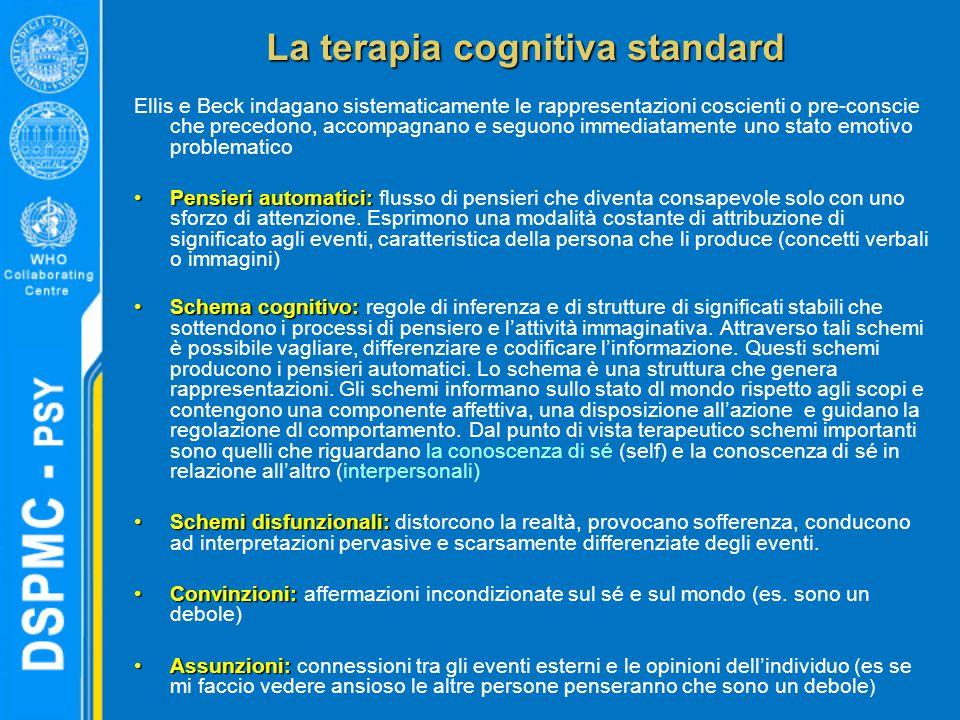La terapia cognitiva standard