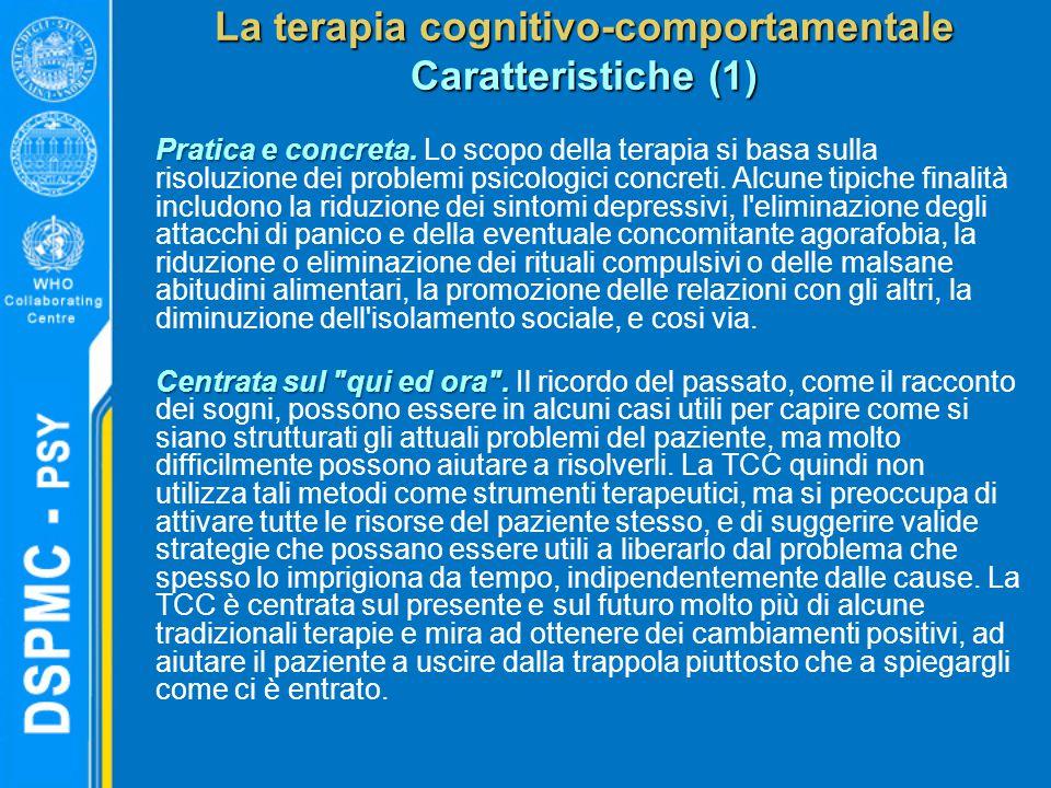 La terapia cognitivo-comportamentale Caratteristiche (1)