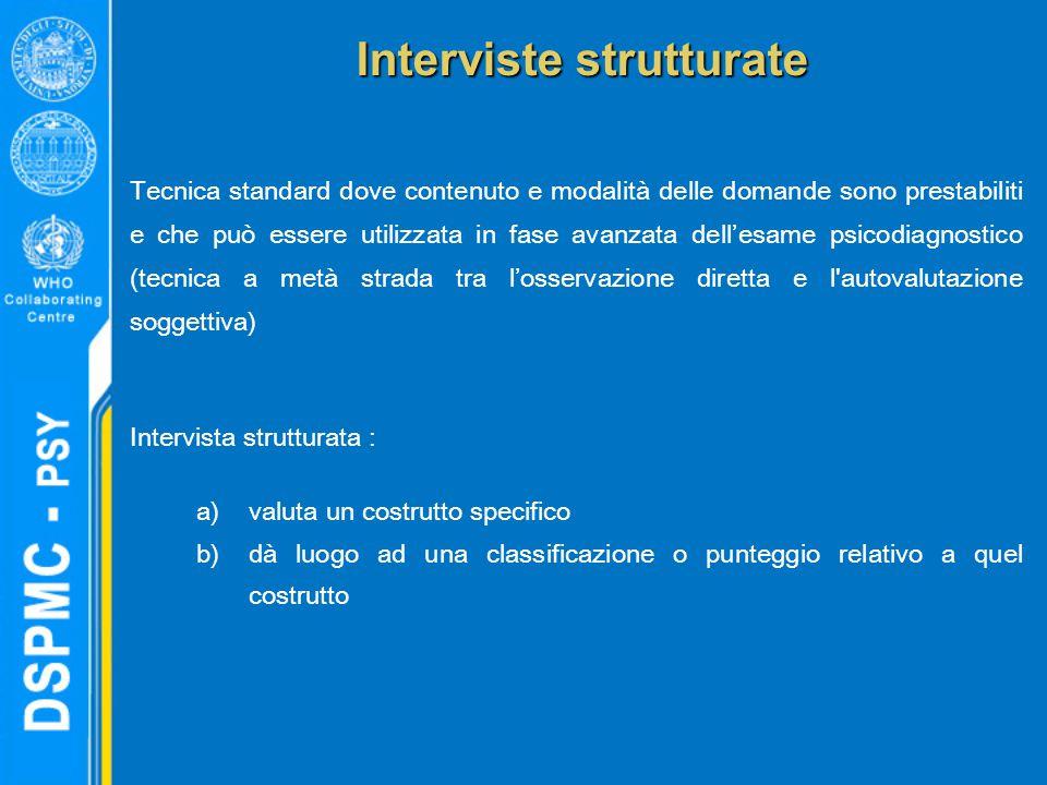 Interviste strutturate