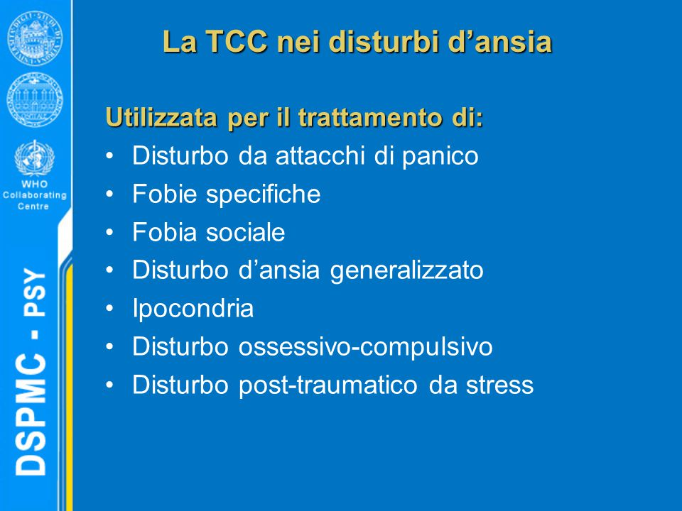 La TCC nei disturbi d'ansia