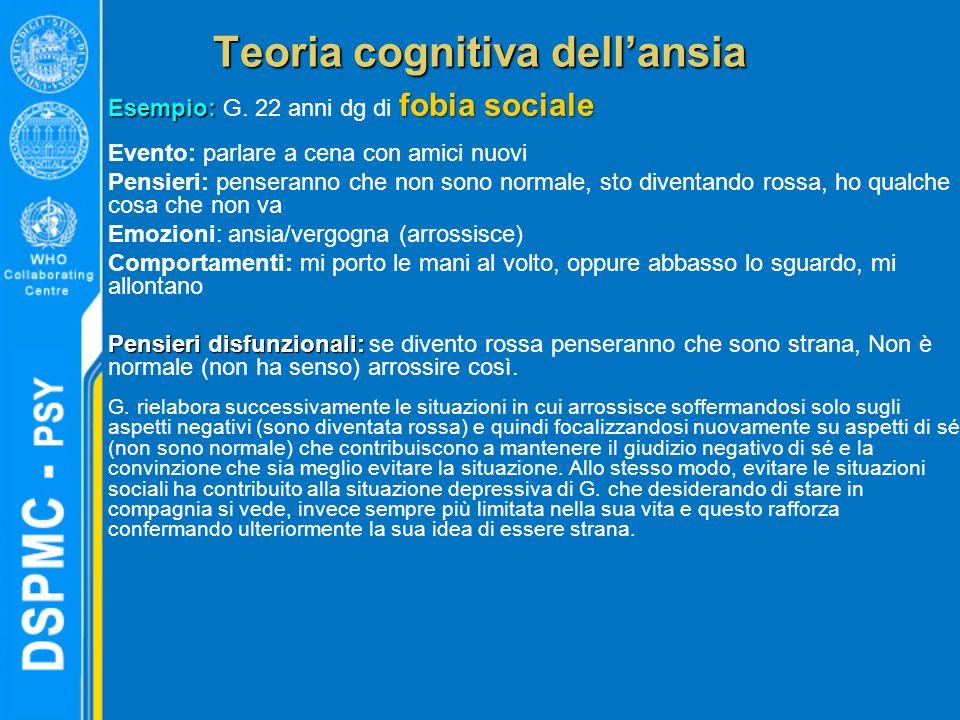 Teoria cognitiva dell'ansia