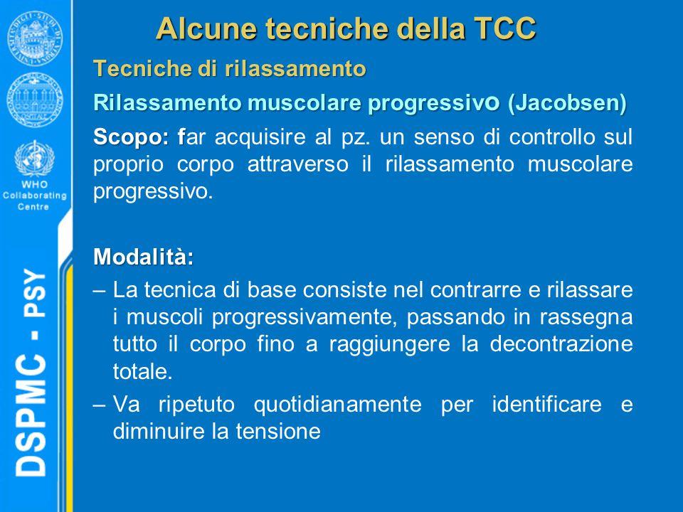 Alcune tecniche della TCC