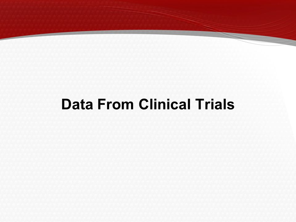 Data From Clinical Trials