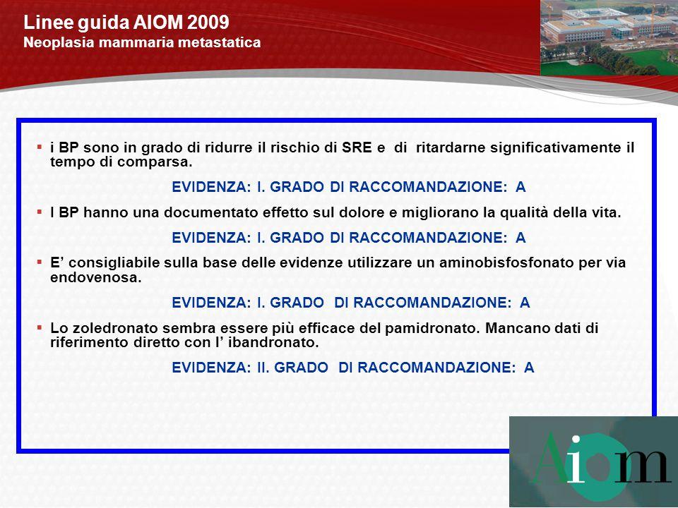 Linee guida AIOM 2009 Neoplasia mammaria metastatica