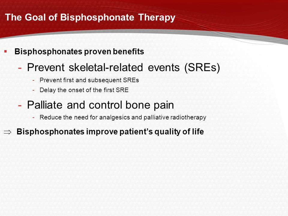 The Goal of Bisphosphonate Therapy