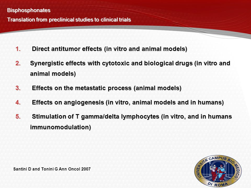 Direct antitumor effects (in vitro and animal models)