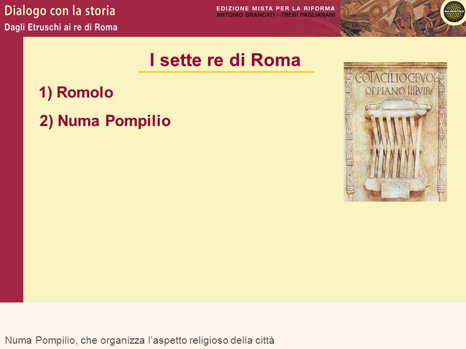 I sette re di Roma 1) Romolo 2) Numa Pompilio