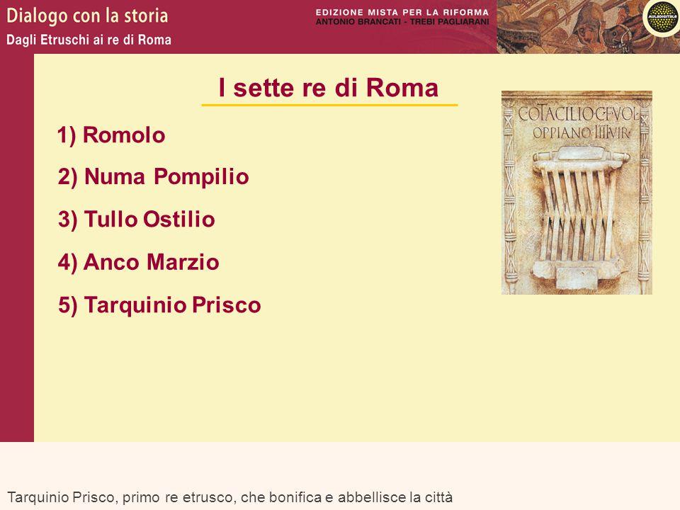 I sette re di Roma 1) Romolo 2) Numa Pompilio 3) Tullo Ostilio