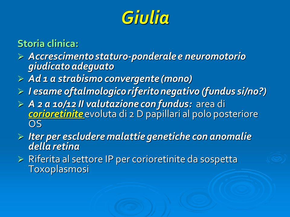 Giulia Storia clinica: