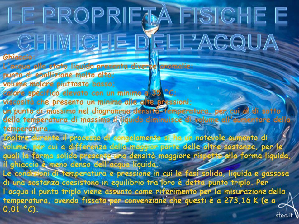Le Proprietà Fisiche e chimiche dell'acqua