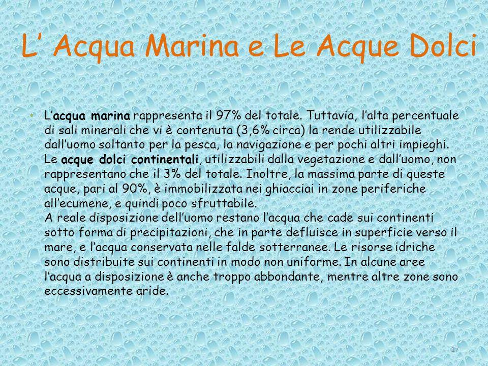 L' Acqua Marina e Le Acque Dolci