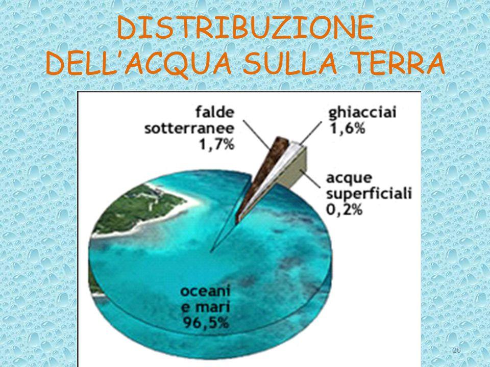 DISTRIBUZIONE DELL'ACQUA SULLA TERRA