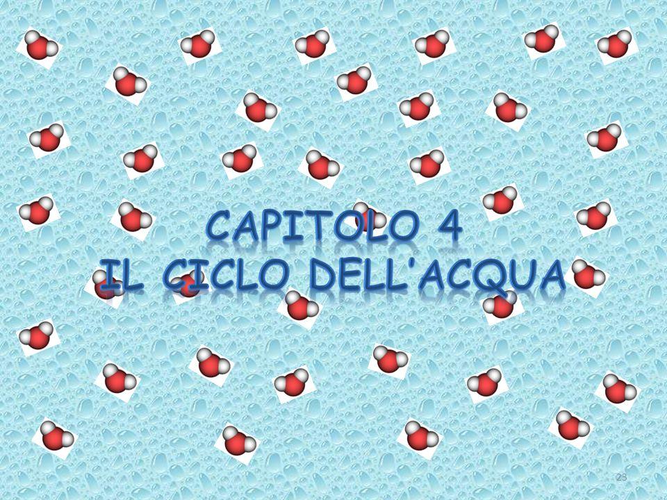 CAPITOLO 4 IL CICLO DELL'ACQUA