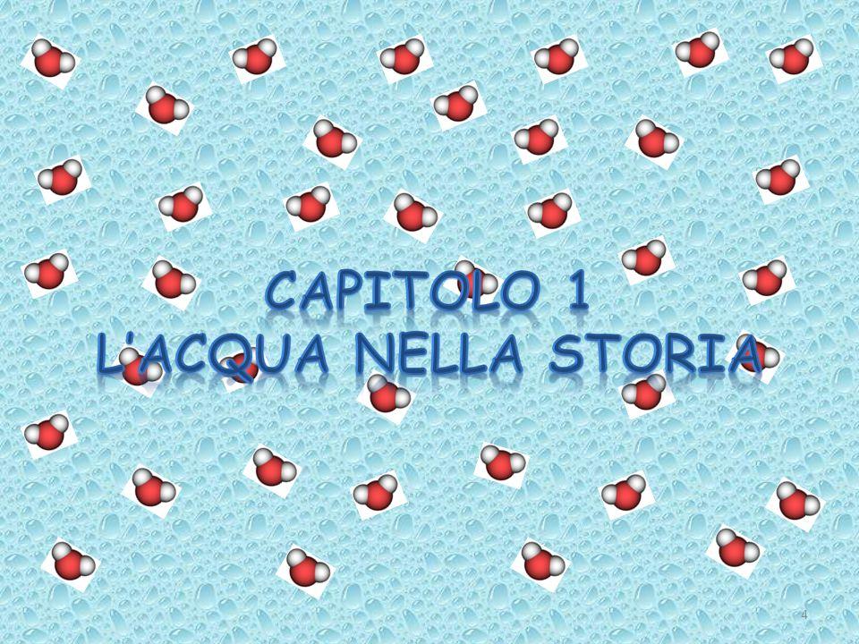 CAPITOLO 1 L'ACQUA NELLA STORIA
